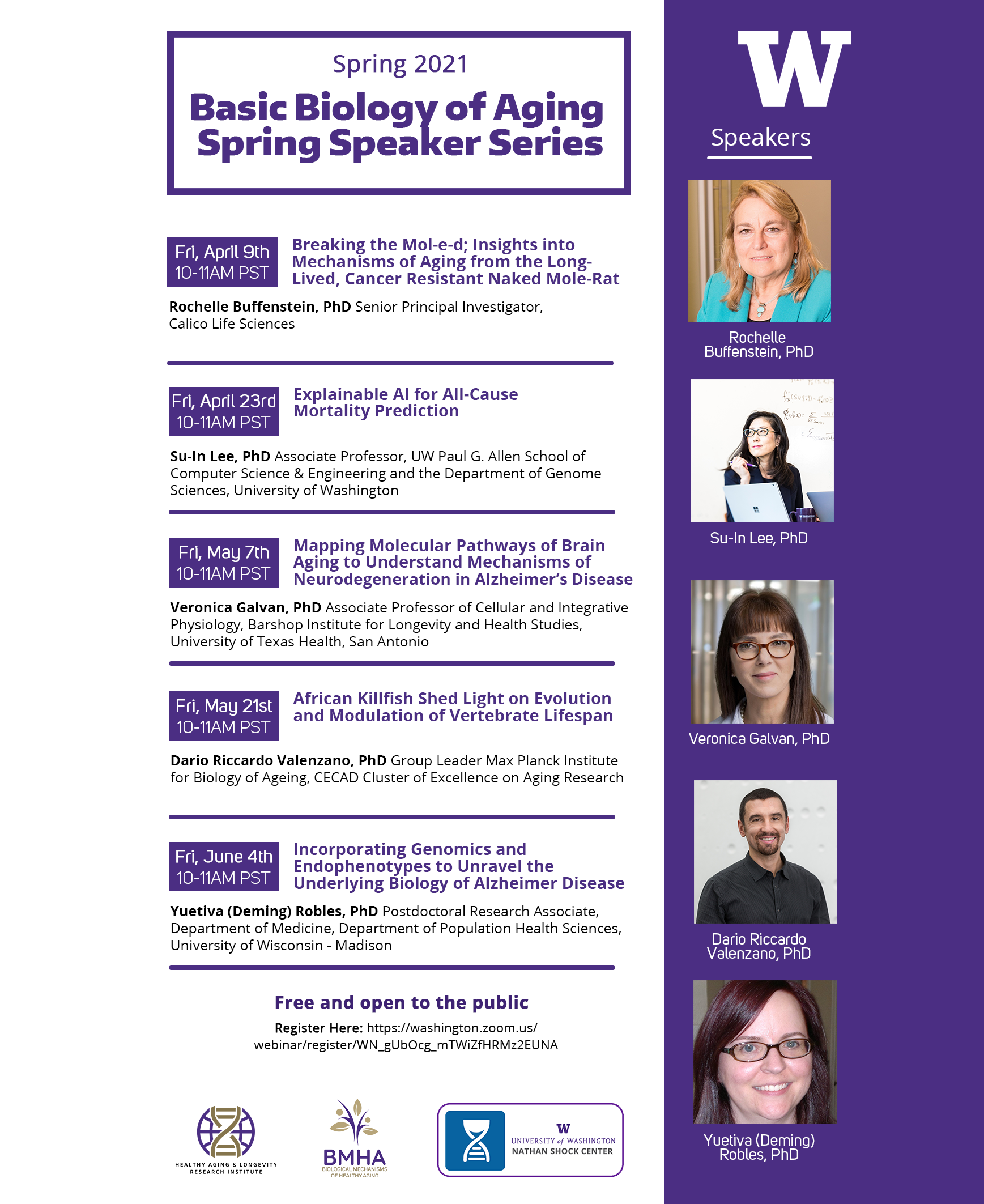 Basic Biology of Aging Spring Speaker Series